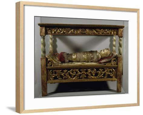 Cradle with Infant Jesus, Austria--Framed Art Print