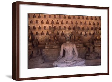 Detail of the Statues of Wat Si Saket Buddhist Temple, Dating Back to 1818, Vientiane, Laos--Framed Art Print