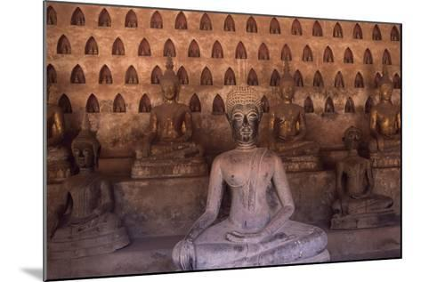 Detail of the Statues of Wat Si Saket Buddhist Temple, Dating Back to 1818, Vientiane, Laos--Mounted Giclee Print