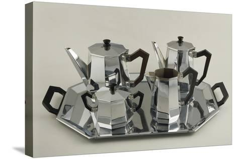 Silver Tea and Coffee-Service--Stretched Canvas Print