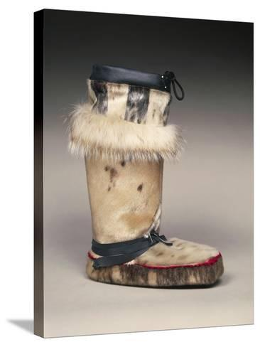Close Up of Sealskin Eskimo Boot--Stretched Canvas Print
