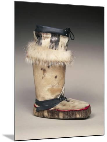 Close Up of Sealskin Eskimo Boot--Mounted Giclee Print