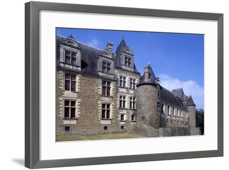 View of Chateaubriant Castle, Pays De La Loire, France--Framed Art Print