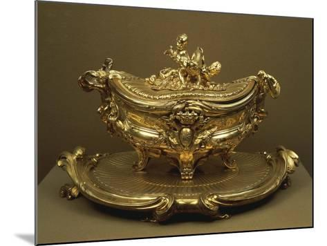 Gilded Silver Tureen and Tray--Mounted Giclee Print