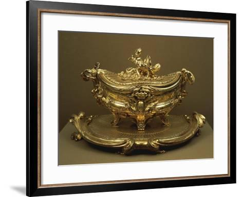 Gilded Silver Tureen and Tray--Framed Art Print