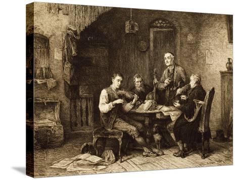 Quartet of Amateurs, Hungary--Stretched Canvas Print