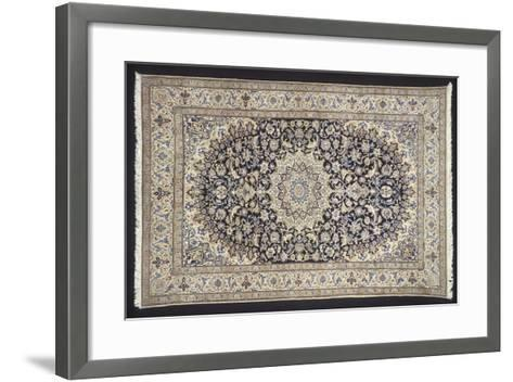 Rugs and Carpets: Iran - Nain-Seilah Carpet--Framed Art Print