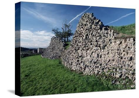 Roman Walls in Caerwent, Wales, United Kingdom--Stretched Canvas Print