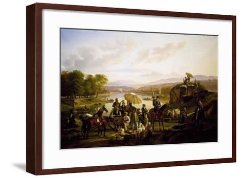 Painters from Lyon Stopping at Barbe Island, 1824--Framed Art Print