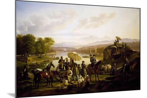 Painters from Lyon Stopping at Barbe Island, 1824--Mounted Giclee Print