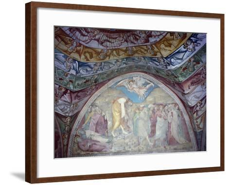 15th Century Frescoes in Chapel of Angels in Monastery of St Scholastica, Italy--Framed Art Print