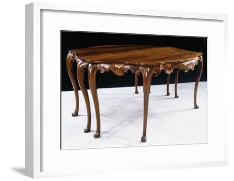 Walnut Highlighted in Gold Venetian Table, Italy, Mid-18th Century--Framed Art Print