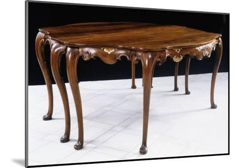 Walnut Highlighted in Gold Venetian Table, Italy, Mid-18th Century--Mounted Giclee Print