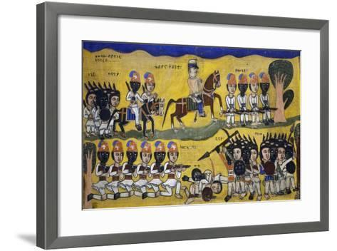 Police Force in Colony--Framed Art Print