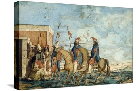 Soldiers of Oribe Army in Montevideo, 1844, Civil War, Uruguay--Stretched Canvas Print