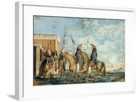 Soldiers of Oribe Army in Montevideo, 1844, Civil War, Uruguay--Framed Art Print