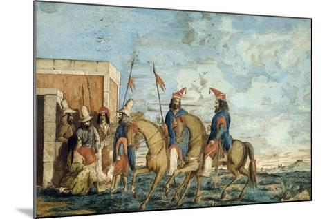 Soldiers of Oribe Army in Montevideo, 1844, Civil War, Uruguay--Mounted Giclee Print