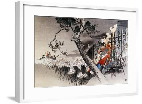 Chinese Soldiers Leaving Town of Ho-O-Djo after Burning it Down, October 29, 1894--Framed Art Print