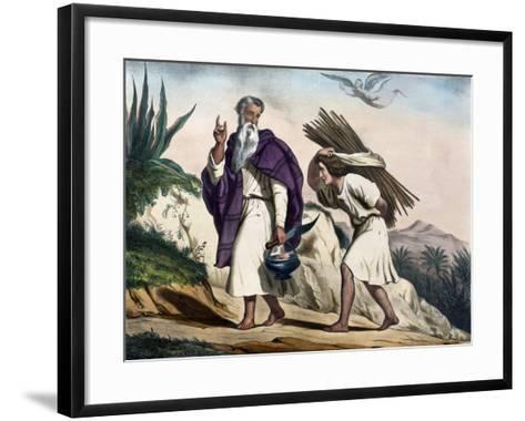 Abraham Leading His Son Isaac to Sacrifice from Old Testament, End of 19th Century--Framed Art Print