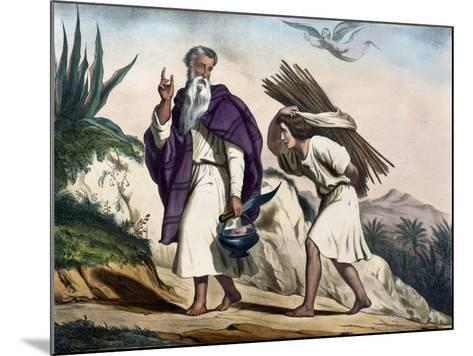 Abraham Leading His Son Isaac to Sacrifice from Old Testament, End of 19th Century--Mounted Giclee Print