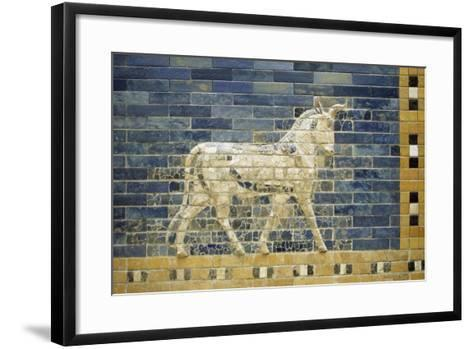 Bas-Relief of Horse Along Processional Way--Framed Art Print