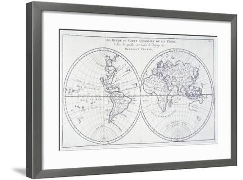 Voyage of Robinson Crusoe, from 18th Century Map of World--Framed Art Print
