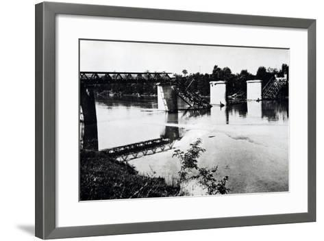 Italy, Bridge in Campo San Martino after Being Blown Up by Damiano Church Brigade--Framed Art Print