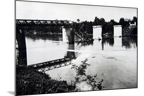 Italy, Bridge in Campo San Martino after Being Blown Up by Damiano Church Brigade--Mounted Giclee Print