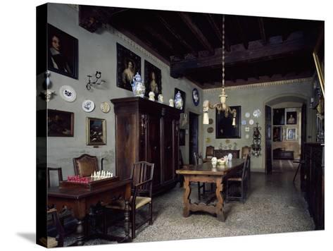 Italy, Lonato, Ugo Da Como Foundation, Casa Del Podesta, Dining Room--Stretched Canvas Print