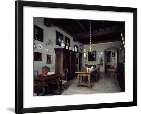Italy, Lonato, Ugo Da Como Foundation, Casa Del Podesta, Dining Room--Framed Art Print