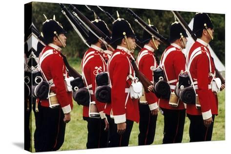 British Soldiers of the 57th Middlesex Regiment, 1880, Historical Re-Enactment--Stretched Canvas Print