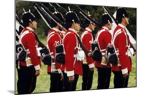 British Soldiers of the 57th Middlesex Regiment, 1880, Historical Re-Enactment--Mounted Giclee Print