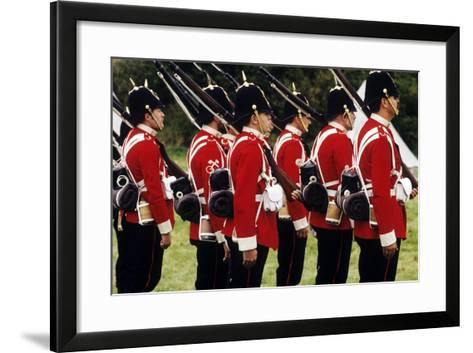 British Soldiers of the 57th Middlesex Regiment, 1880, Historical Re-Enactment--Framed Art Print