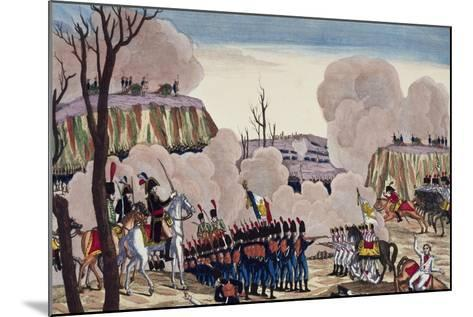 Battle of Caldiero Won by General Massena over Prince Charles, October 30, 1805--Mounted Giclee Print
