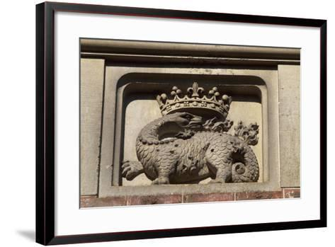 Decorative Detail from Chateau De Wiege-Faty, Picardy, France--Framed Art Print