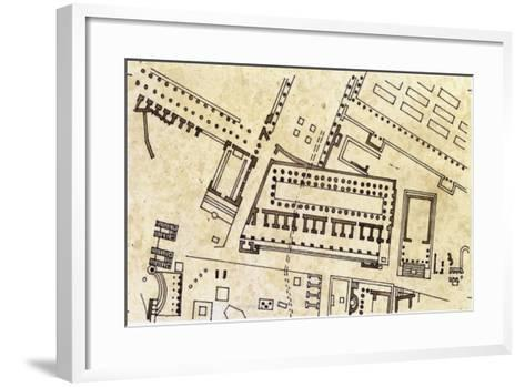 Map of the Imperial Fora, Detail of the Forum of Caesar--Framed Art Print