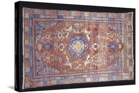 Rugs and Carpets: China - Ganshu Carpet--Stretched Canvas Print