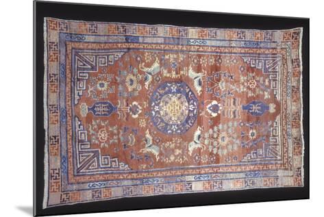 Rugs and Carpets: China - Ganshu Carpet--Mounted Giclee Print