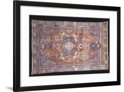 Rugs and Carpets: China - Ganshu Carpet--Framed Art Print