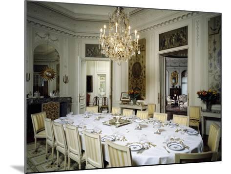 Dining Room in Ooidonk Castle, Deinze, Belgium--Mounted Giclee Print