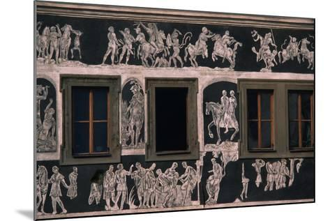 Biblical and Mythological Scenes, Sgraffito-Decorated Facade of Dom U Minuty, House at Minute--Mounted Giclee Print