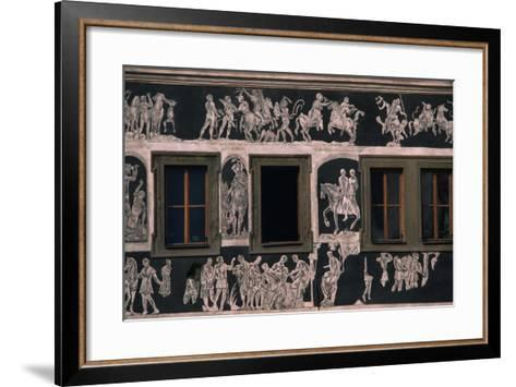 Biblical and Mythological Scenes, Sgraffito-Decorated Facade of Dom U Minuty, House at Minute--Framed Art Print