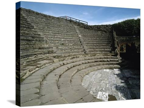Italy, Pompeii, Small Theatre or Odeon, 1st Century B.C.--Stretched Canvas Print