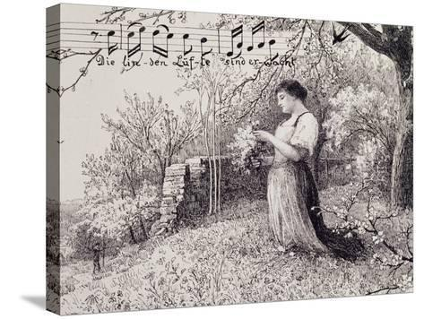 Illustration for Song, Austria--Stretched Canvas Print