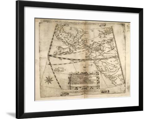 Map of the Chiquatzin Tecuihtli Territory, Mexico--Framed Art Print