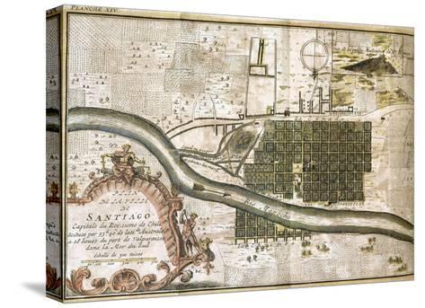 Chile. Santiago De Chile, Map in 1713--Stretched Canvas Print