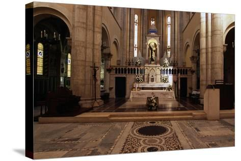 View of Interior of Basilica of St Theresa of Child Jesus, Anzio, Lazio, Italy--Stretched Canvas Print