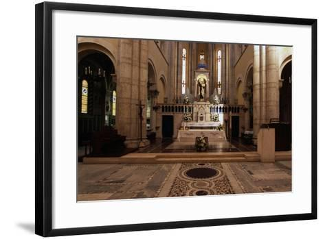 View of Interior of Basilica of St Theresa of Child Jesus, Anzio, Lazio, Italy--Framed Art Print
