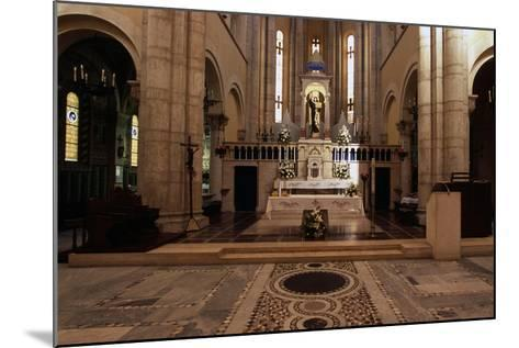 View of Interior of Basilica of St Theresa of Child Jesus, Anzio, Lazio, Italy--Mounted Giclee Print