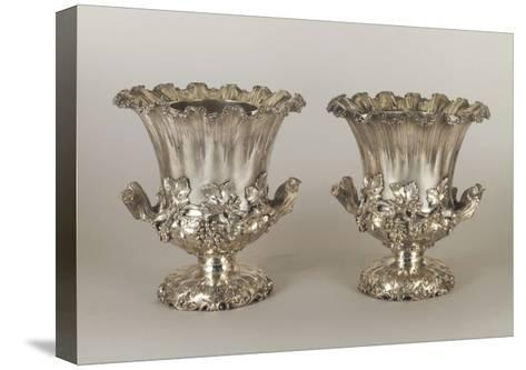 Pair of George Iv Style Silver Wine Coolers--Stretched Canvas Print